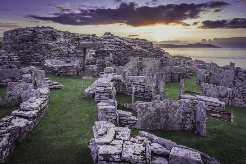 Broch Gurness w Orkney zdjęcia royalty free