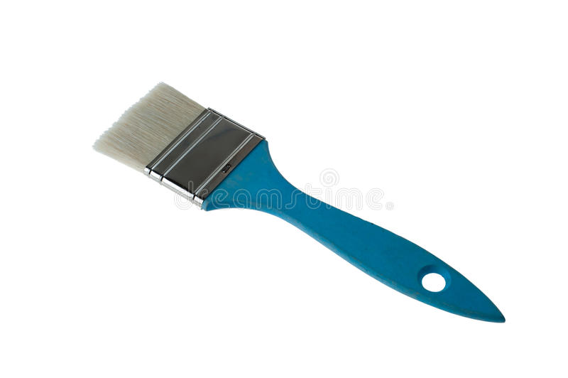 Brocha azul imagen de archivo