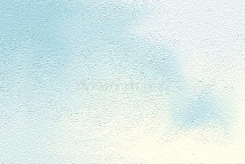 Brocha brillante azul del arte en el fondo de papel de la textura, pastel de acrílico del papel pintado del color de agua del art ilustración del vector