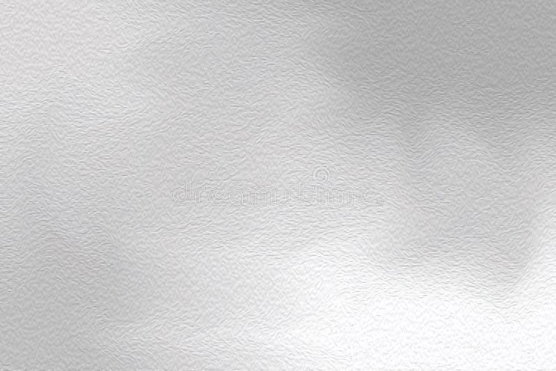 Brocha brillante gris del arte abstracto en el fondo de papel de la textura, pastel de acrílico del papel pintado del color de ag stock de ilustración