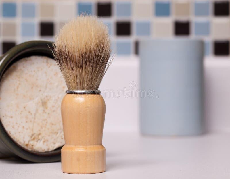 Brocha de afeitar fotos de archivo