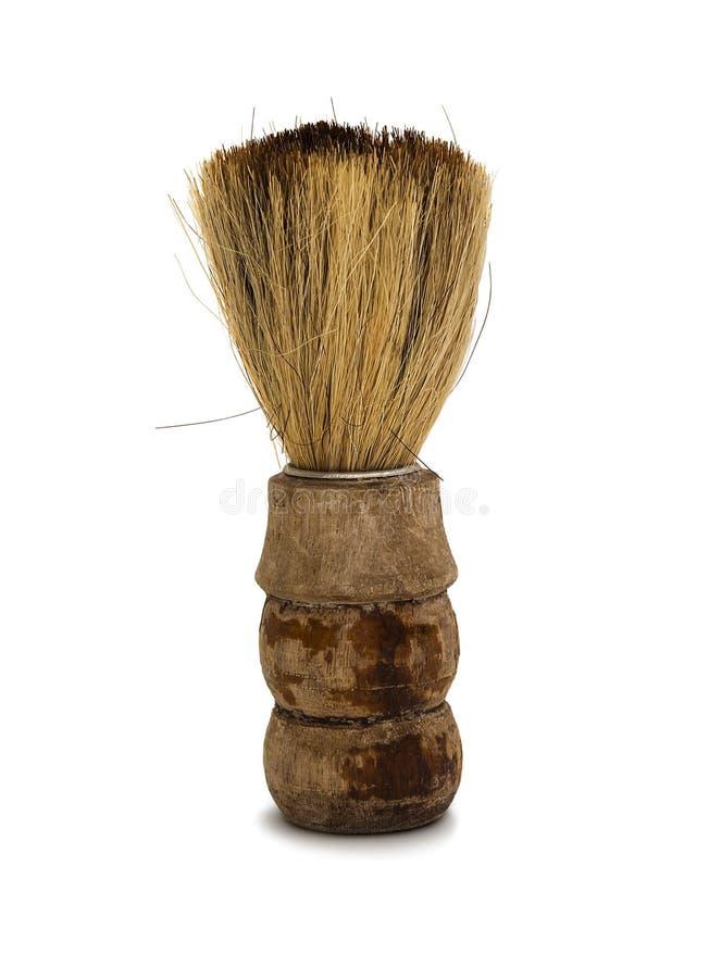 Brocha de afeitar vieja Vintage que afeita el artículo foto de archivo libre de regalías