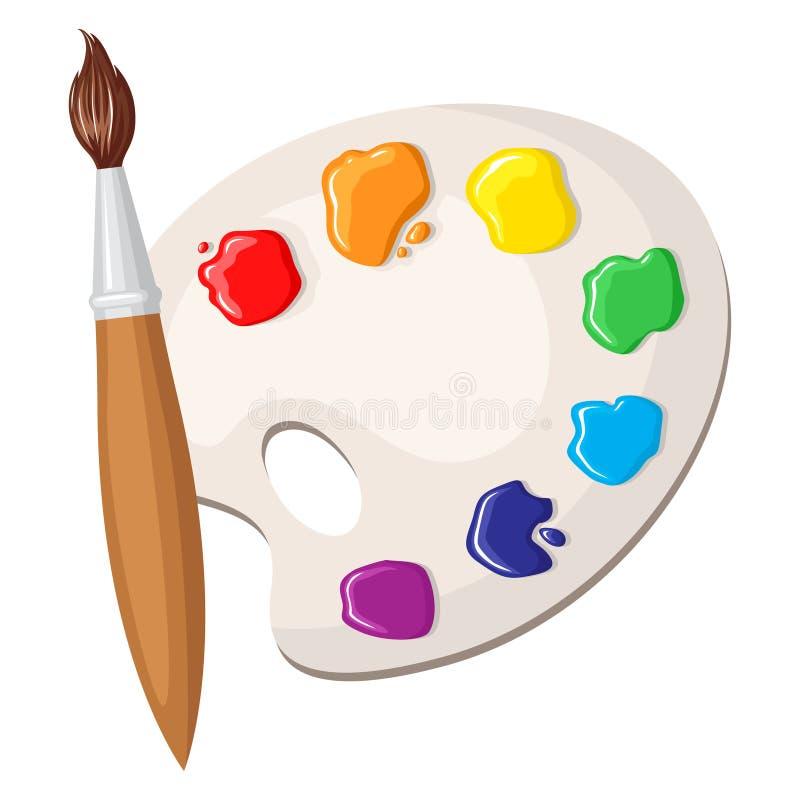 Brocha y gama de colores de pinturas ilustraci n del - Gama de colores de pinturas ...