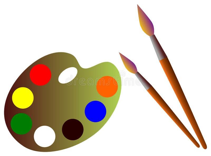 Download Brocha y paleta stock de ilustración. Ilustración de brocha - 7278614