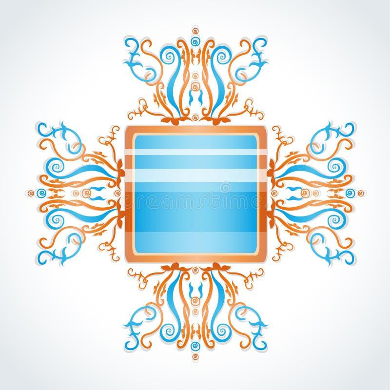 Broche azul e alaranjado. ilustração stock