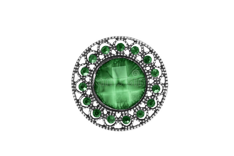 Broche de cru d'isolement image stock