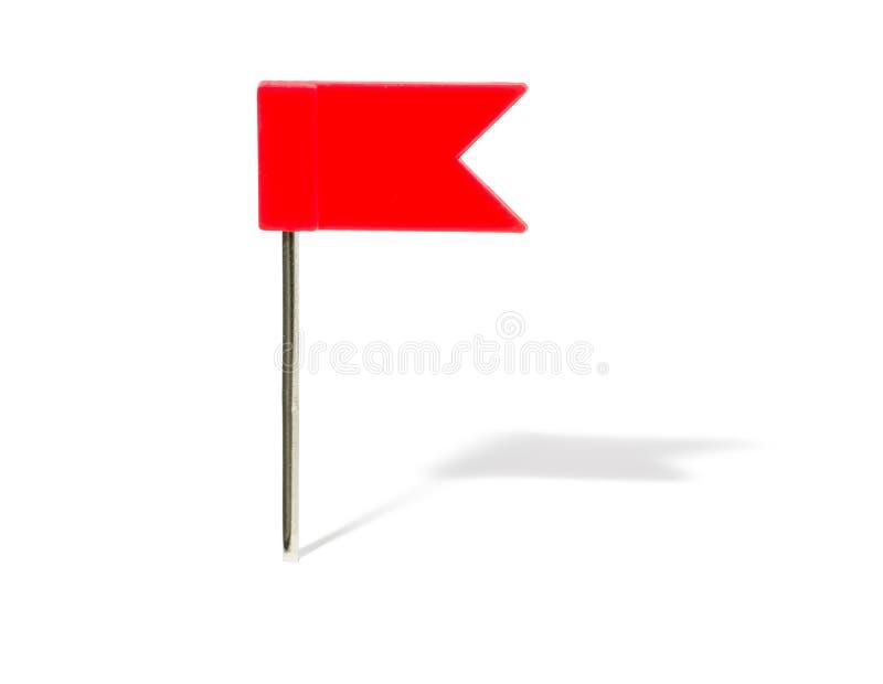 Broche de drapeau rouge images stock