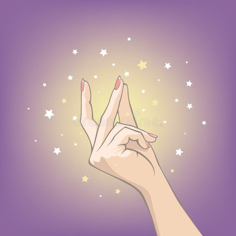 Broche de presión de la magia ilustración del vector