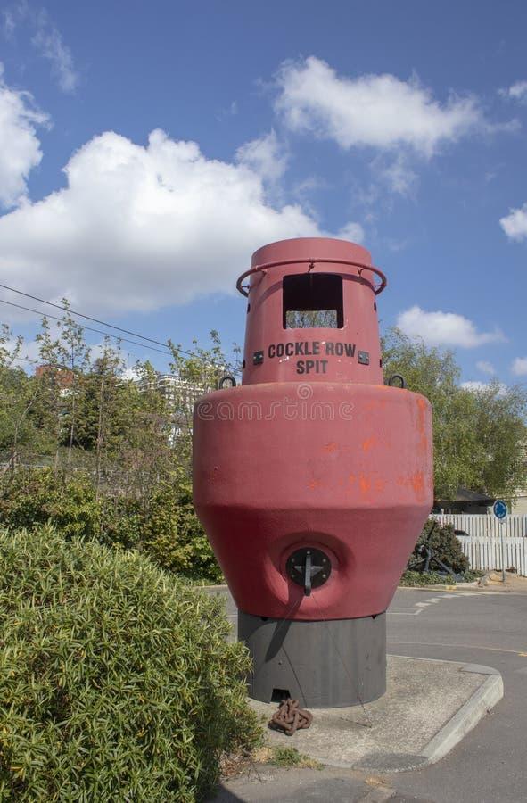 Broche de rang?e de coque, Leigh-sur-mer, Essex, Angleterre photo stock