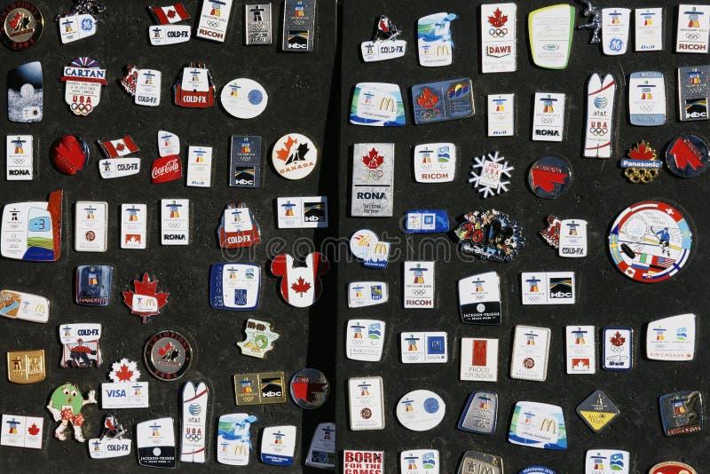Broches 2010 De Collecteur De Jeux Olympiques De Vancouver Photo stock éditorial