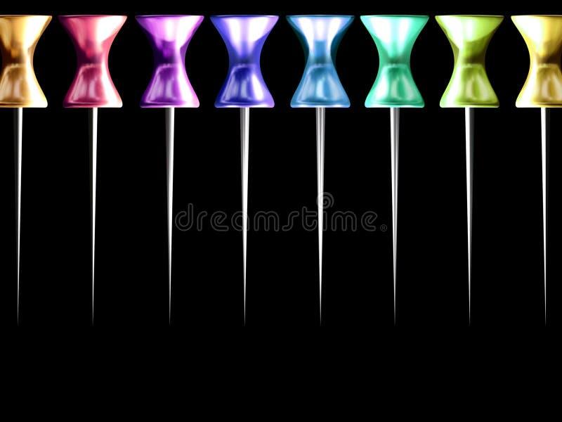 Broches colorées illustration stock