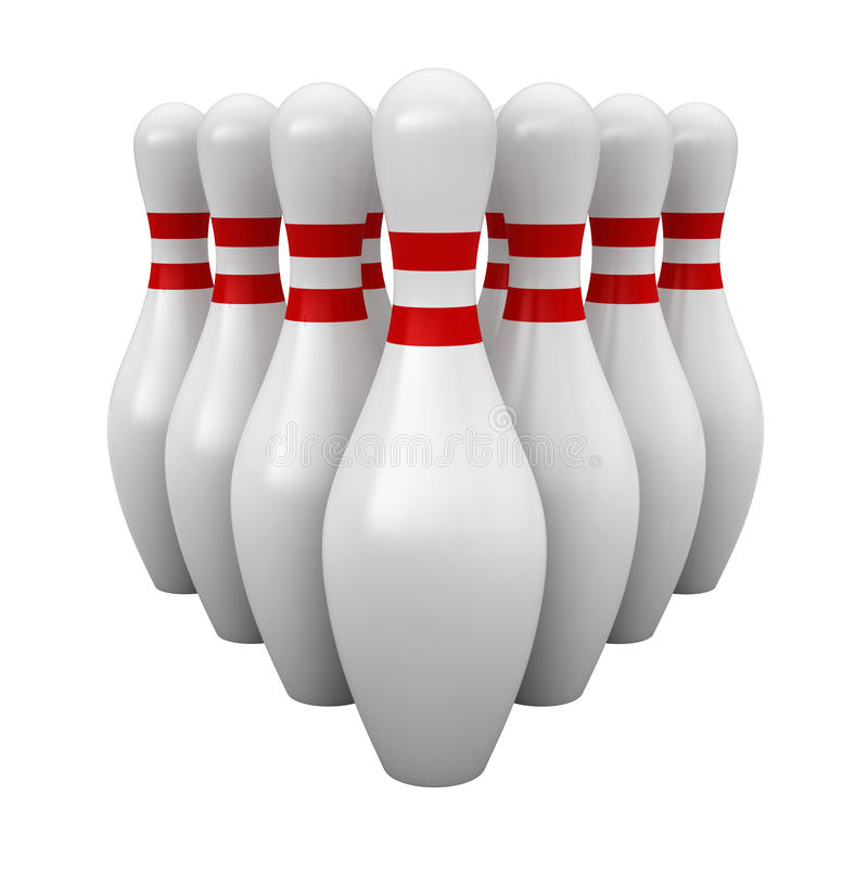 Broches de bowling photographie stock
