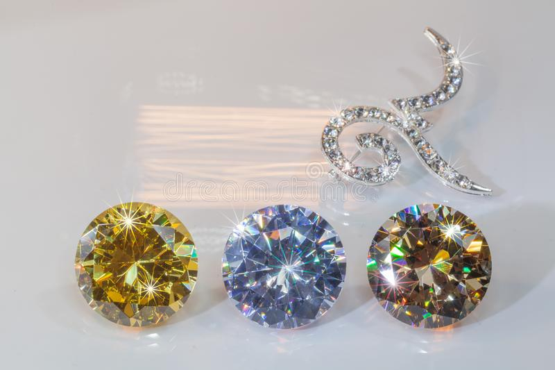 broches du numéro neuf décorées par des diamants photographie stock libre de droits