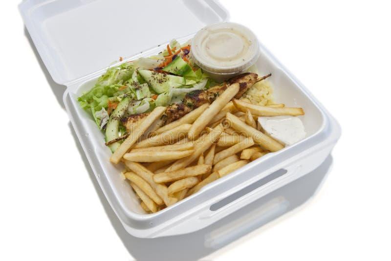 Download Brochette chicken stock image. Image of rice, brochette - 23680057
