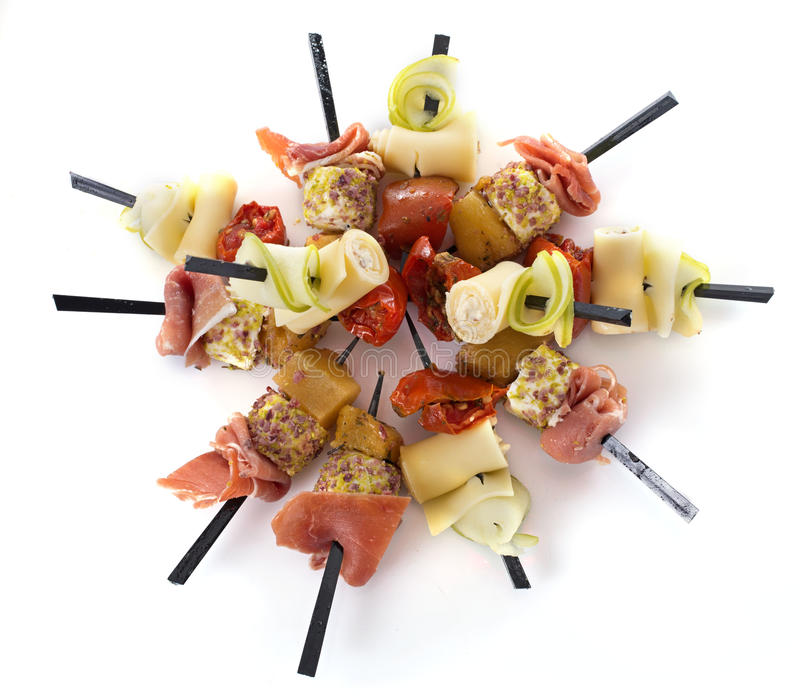 Brochette d'Aperitive images stock