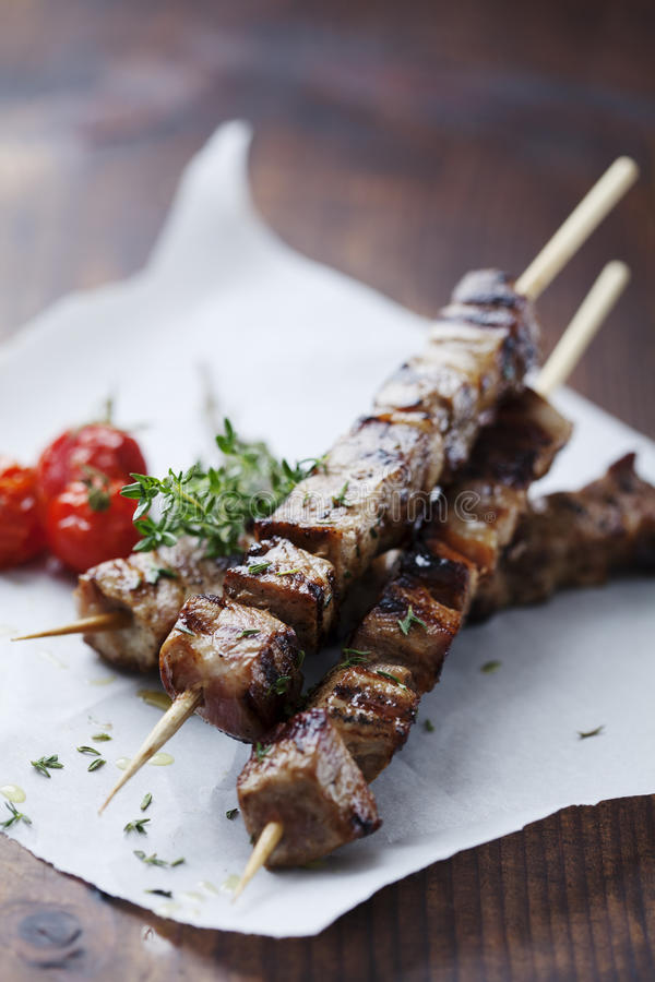 Brochette de viande photo stock