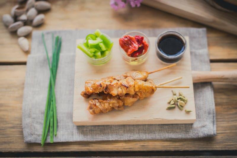 Brochette yakitori цыпленка стоковая фотография rf