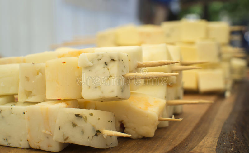 Brochettes τυριών στοκ εικόνα με δικαίωμα ελεύθερης χρήσης