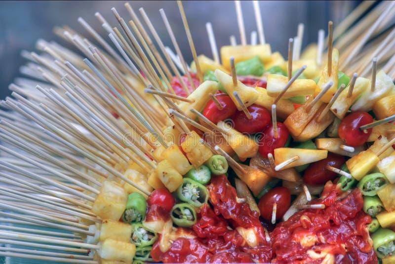 Brochettes de Banguecoque foto de stock