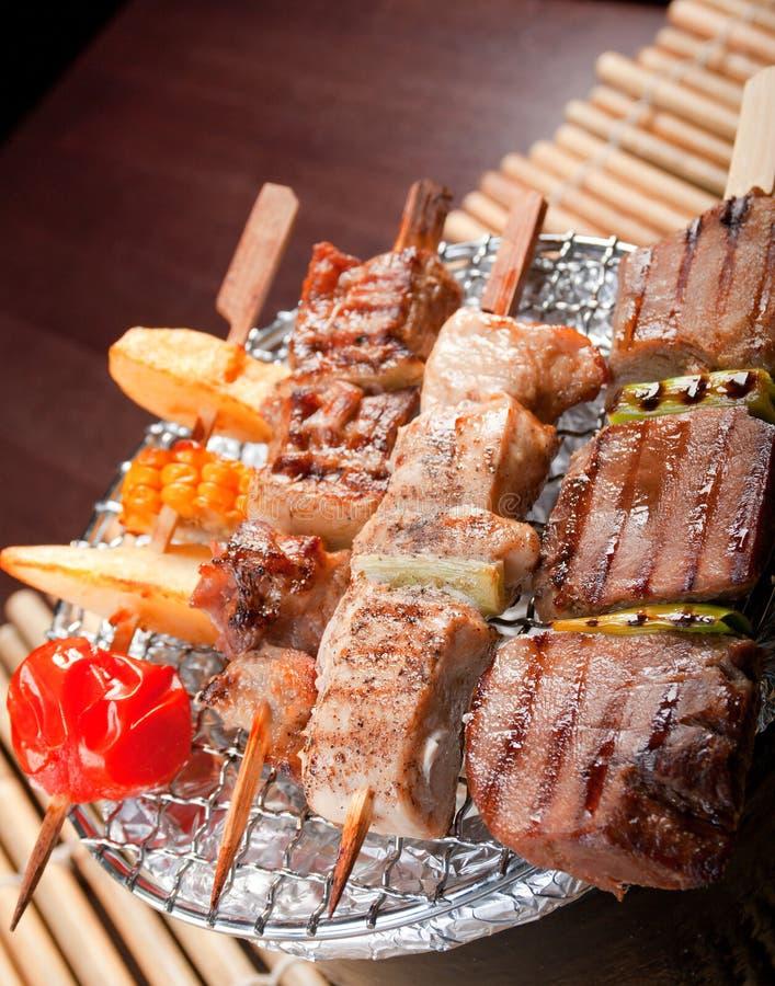 Brochettes de viande japonaises photo libre de droits