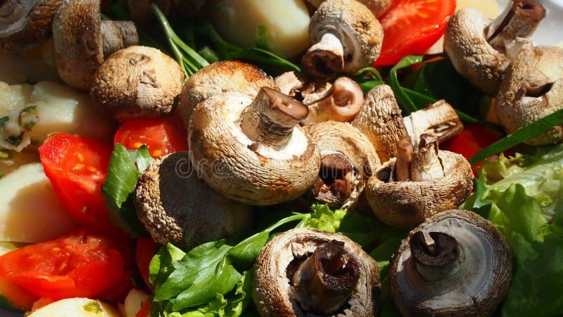 Brochettes des champignons photos stock