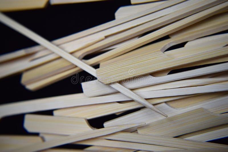 Brochettes en bois de chiche-kebab photographie stock