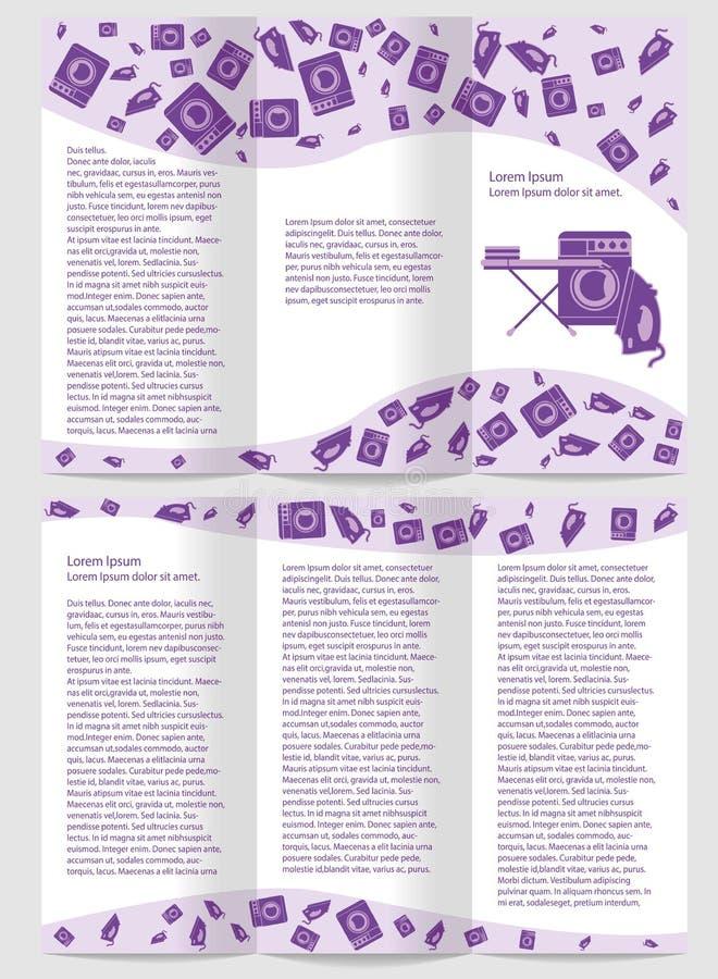 Brochura do molde da lavanderia do folheto do negócio ilustração royalty free