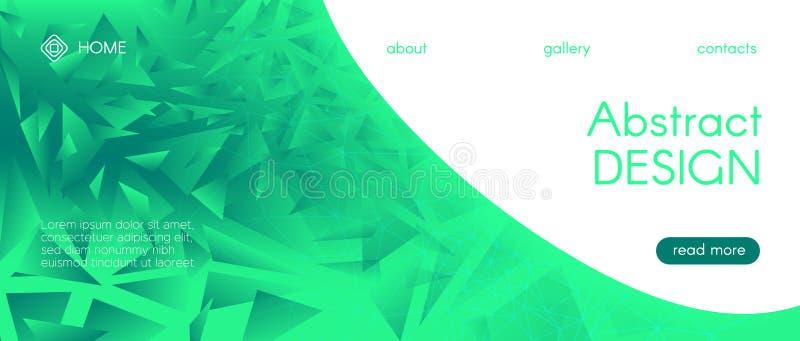 Brochura sobre tecnologia neon Ciência Verde ilustração do vetor