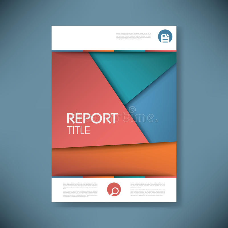 Brochure or annual report cover with abstract. Background and space for your text. Eps10 vector illustration vector illustration