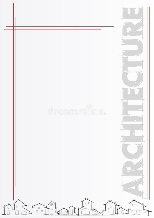 Brochure: architectuur of bouwbedrijf vector illustratie