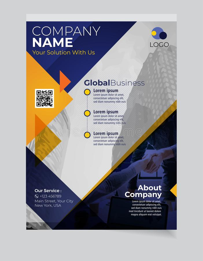 Brochure Bedrijfsmalplaatje eenvoudig Modern Ontwerp en van elegant_business brochuremalplaatje 05 royalty-vrije illustratie