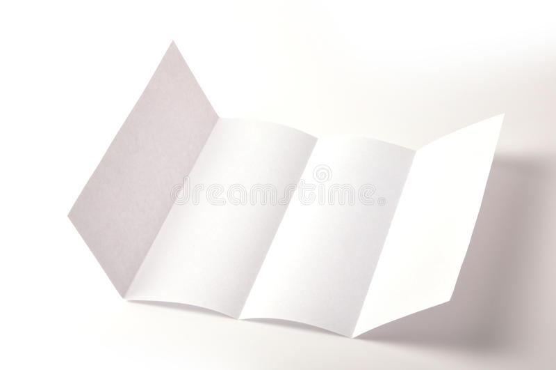 Brochure blanc image libre de droits
