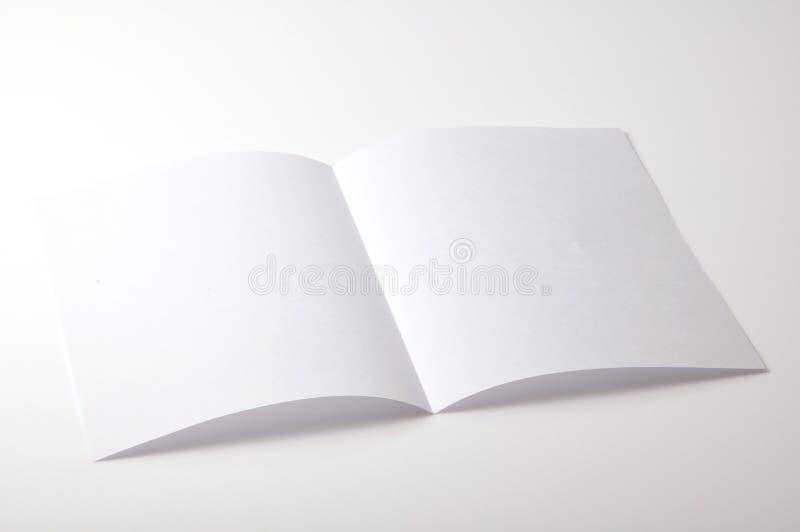 Brochure blanc photos stock