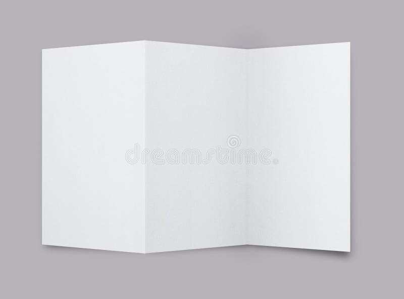 Brochure blanc illustration libre de droits