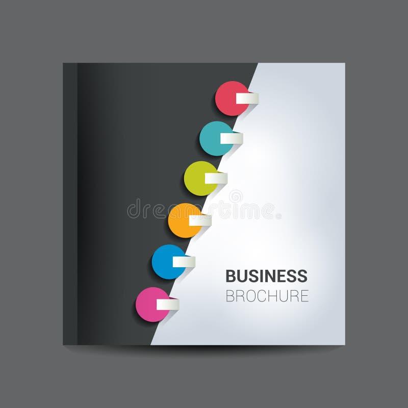 Brochure, bulletin, het malplaatje van de jaarverslaglay-out vector illustratie