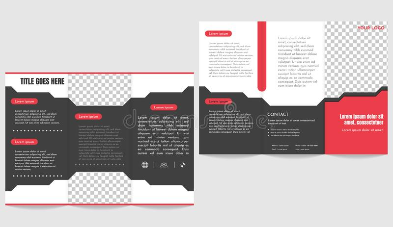 Brochure business trifold flyer mockup stock illustration