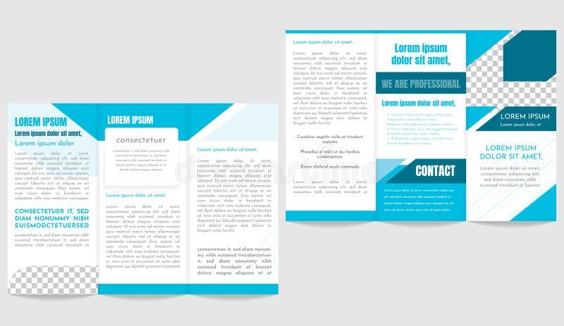 Brochure business trifold flyer template.  vector illustration