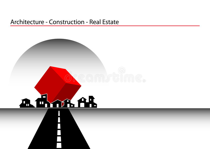 Brochure Cover - Business Card. Architecture, construction, real estate company