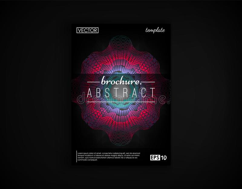 Brochure cover design postcard isolated. 2d futuristic background. Poster, flyer, poster, business card and other your vector illustration