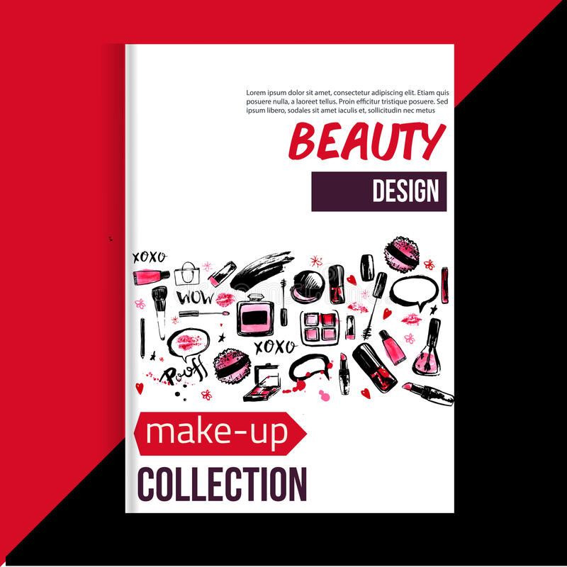Brochure Cover Template For Makeup Artist Studio Business Card