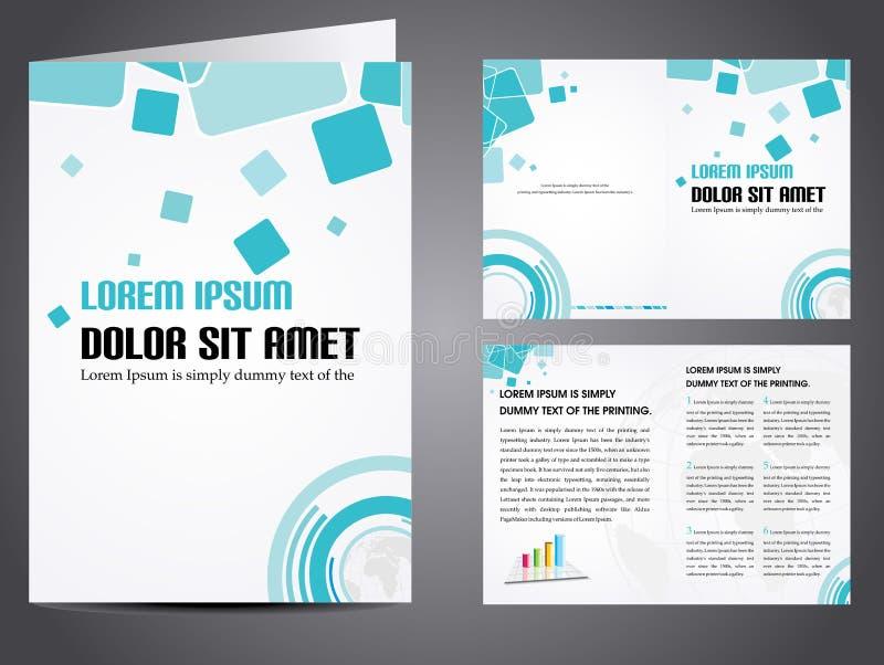 Brochure d'affaires de vecteur illustration libre de droits