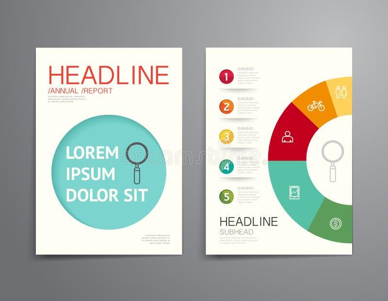 Brochure d'affaires, insecte, vecteur de calibre de conception de couverture de magazine illustration libre de droits