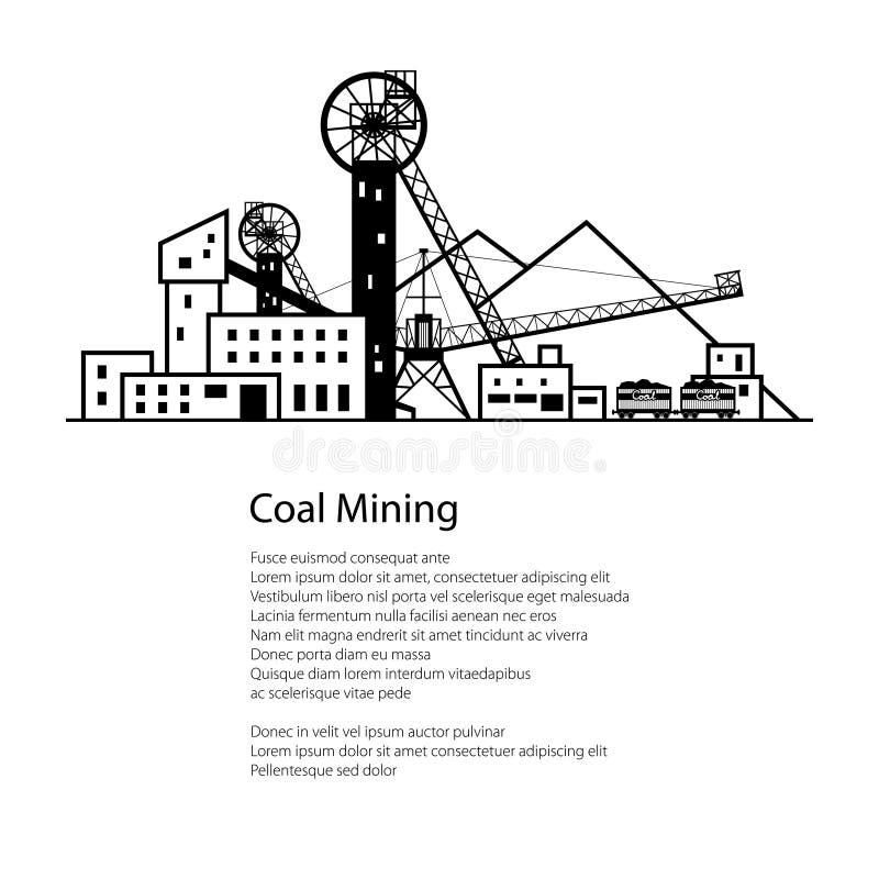 Brochure d'affiche d'industrie charbonnière illustration libre de droits