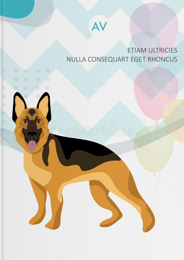 Brochure d'instructions de soin des animaux familiers de couverture illustration stock