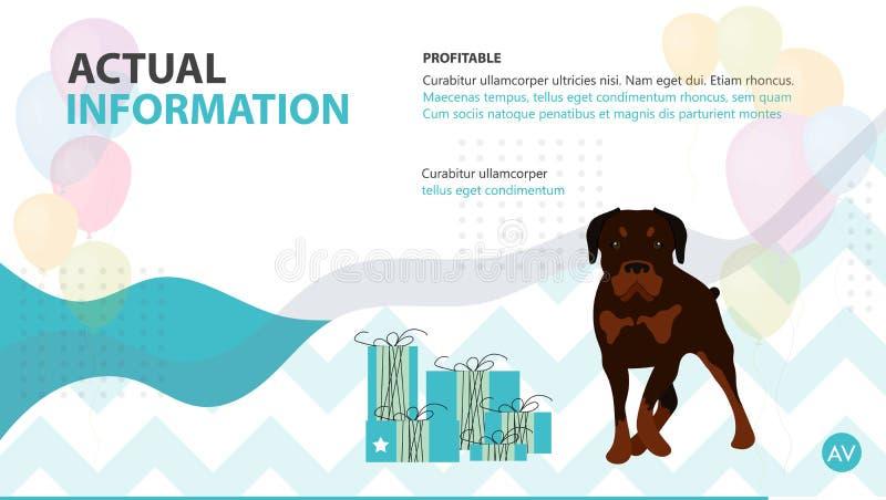 Brochure d'instructions de soin des animaux familiers de couverture illustration stock