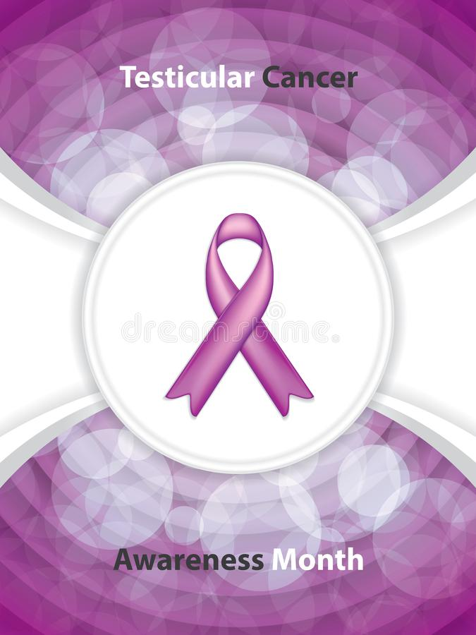 Brochure de cancer du testicule illustration stock