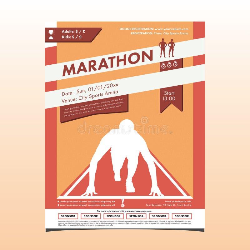 Brochure de marathon illustration de vecteur