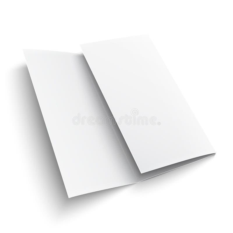 Brochure de papier triple vide. illustration stock