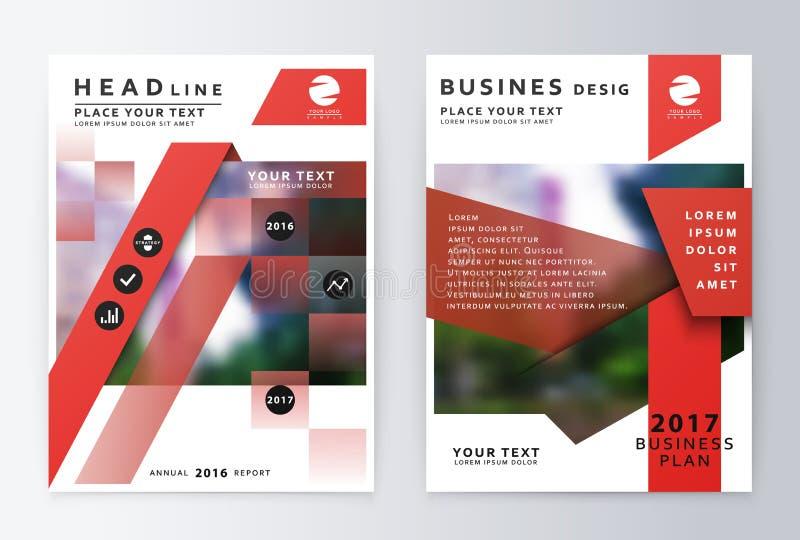 Brochure de rapport annuel  Calibre de conception d'insecte de plan d'action illustration stock