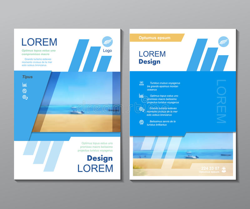 Brochure de voyage de conception de calibre d'affaires, magazine illustration de vecteur